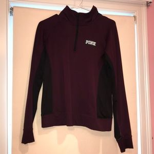 Maroon and Black Quarterzip